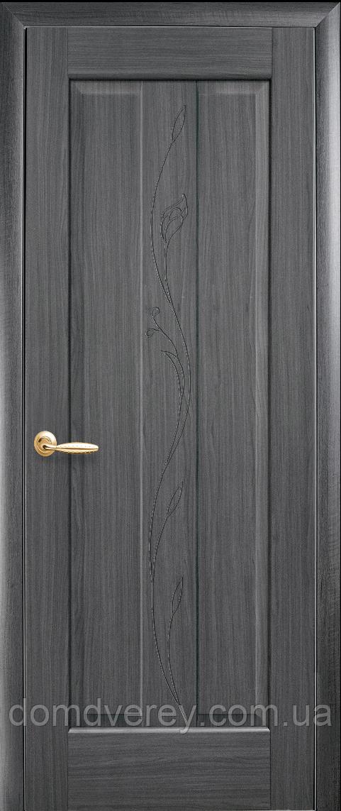 Двери межкомнатные Новый Стиль, Маэстра, модель Премьера, глухое с гравировкой