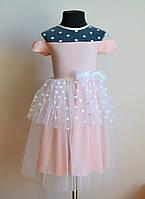 Красивое платье для девочек с фатином