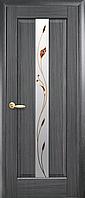 Двері міжкімнатні Новий Стиль, Маестра, модель Прем'єра, зі склом сатин і малюнком P1