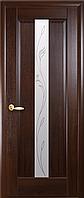 Двері міжкімнатні Новий Стиль, Маестра, модель Прем'єра, зі склом сатин і малюнком P2