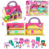 Домик для кукол с мебелью и фигурками | «My happy house»