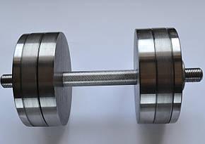 Гантели 2 по 22 кг. Разборные стальные D 25 мм. Сталеві гантелі, фото 2