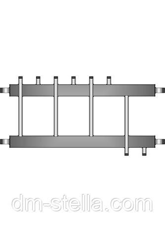 Коллекторная балка 3 контура вверх (вниз) 1 контур вниз (вверх)  до 120 кВт, фото 2