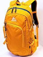 Спортивный городской повседневный текстильный рюкзак ONE POLAR 2171 желтый