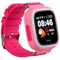 Детские часы с GPS трекером Smart Baby Watch Q100 розовые  Хит!