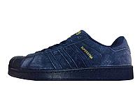 Кроссовки мужские  Adidas Superstar Suede Navy M