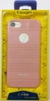 """Силиконовая накладка Spigen """"stripes"""" для iphone 7"""