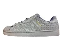 Кроссовки мужские Adidas Superstar Suede Soft Grey M