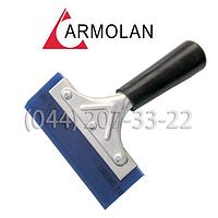 Ракель мет. 12 см с синим полиуретаном