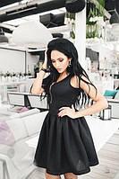 Платье женское приталенное со змейкой (цвет черный)