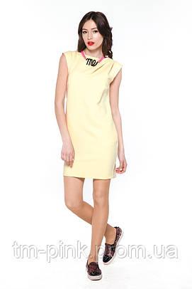 """Плаття косі складки """"Tiffany"""" жовте"""