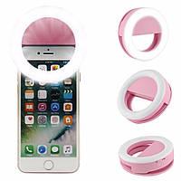 Розовое светодиодное кольцо для селфи Selfie Ring Light v2.0