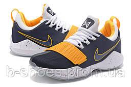 Мужские баскетбольные кроссовки Nike Zoom PG 1 (Grey/White/Yellow)