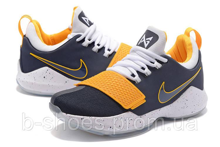 40020d1c Мужские баскетбольные кроссовки Nike Zoom PG 1 (Grey/White/Yellow) - B