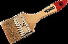 """Кисть флейцевая тип Стандарт натуральный ворс деревянная ручка 3/4"""" HTtools (кисти малярные)"""