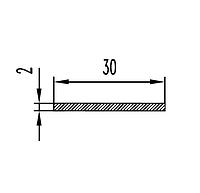 Алюминиевая полоса (шина) 30х2 анодированная (AS)