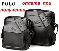 Мужская стильная новая кожаная сумка барсетка Jeep Polo FANKE