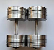 Гантелі 2 по 32 кг розбірні сталеві. Сталеві гантелі