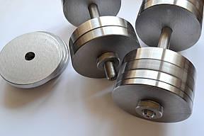 Гантели 2 по 34 кг разборные стальные. Сталеві гантелі, фото 2