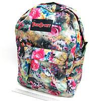 "Рюкзак с карманом ""Весенние цветы"", 42х30х13 см"