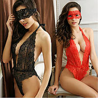 Женское эротическое белье красное комплект с маской 11129с-а
