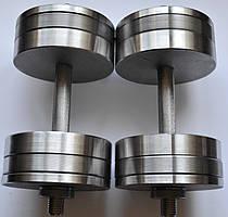 Гантелі 2 по 26 кг розбірні сталеві D 25 мм Сталеві гантелі