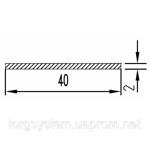 Алюмінієва смуга (шина) 40х2 анодована (AS)