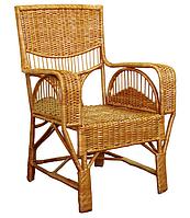 Плетенное кресло из лозы Юбилейное ЧФЛИ 710х640х1020 мм
