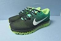 Кроссовки мужские Nike Air Max (2017-1) зеленые код 0353А
