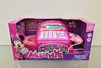 Игрушечный  кассовый  аппарат на  батарейках для девочки , с калькулятором , сканер