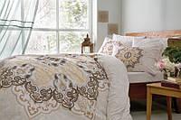Двуспальное евро постельное белье TAC Madelina Brown Ранфорс