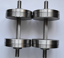 Гантелі 2 по 16 кг. Розбірні сталеві. Сталеві гантелі 15, фото 2