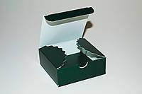 Коробочка для 4-х конфет ручной работы, зеленая, 83*83*30