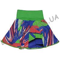 Летняя юбка для девочки Талия на рост 104-110 см - Кулир