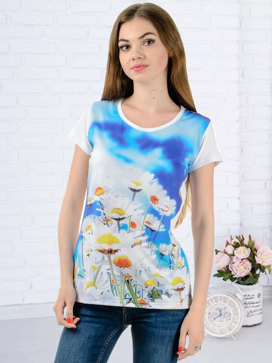 Женская футболка принт фото K3125