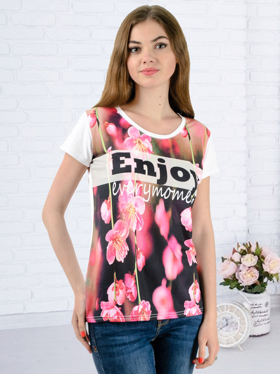 Женская футболка принт фото K3127