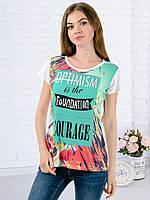 Женская футболка принт фото K3126