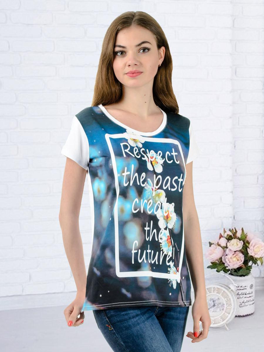 Женская футболка принт фото K3128
