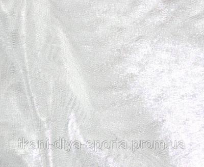 Стрейч-сетка белая с серебряным напылением