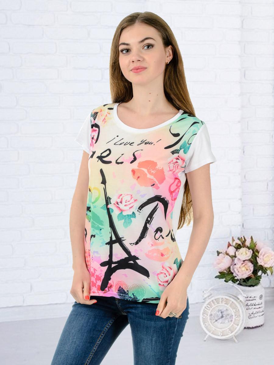 Женская футболка принт фото K3129