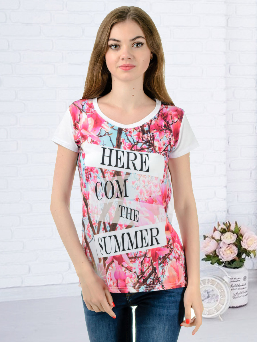 Жіноча футболка принт фото K3130