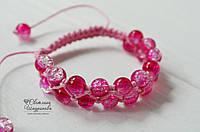 Браслет Шамбала розовый, фото 1