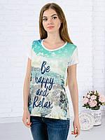 Женская футболка принт фото K3131