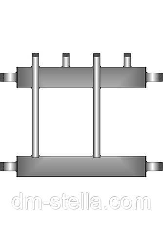 Коллекторная балка 2 контура вверх (вниз)  до 180 кВт, фото 2
