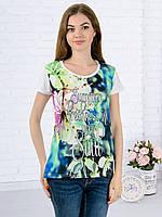 Женская футболка принт фото K3132