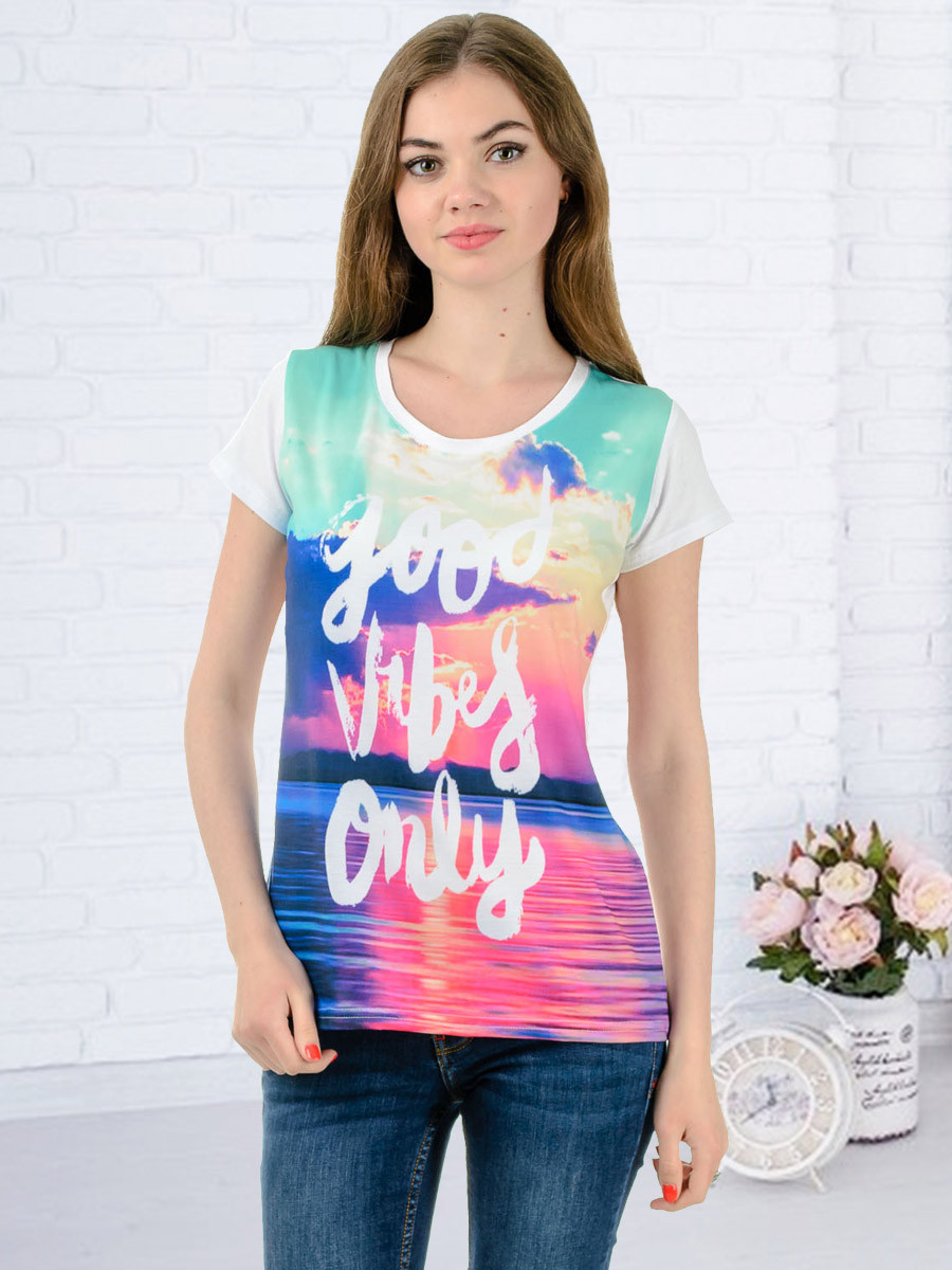 Женская футболка принт фото K3133