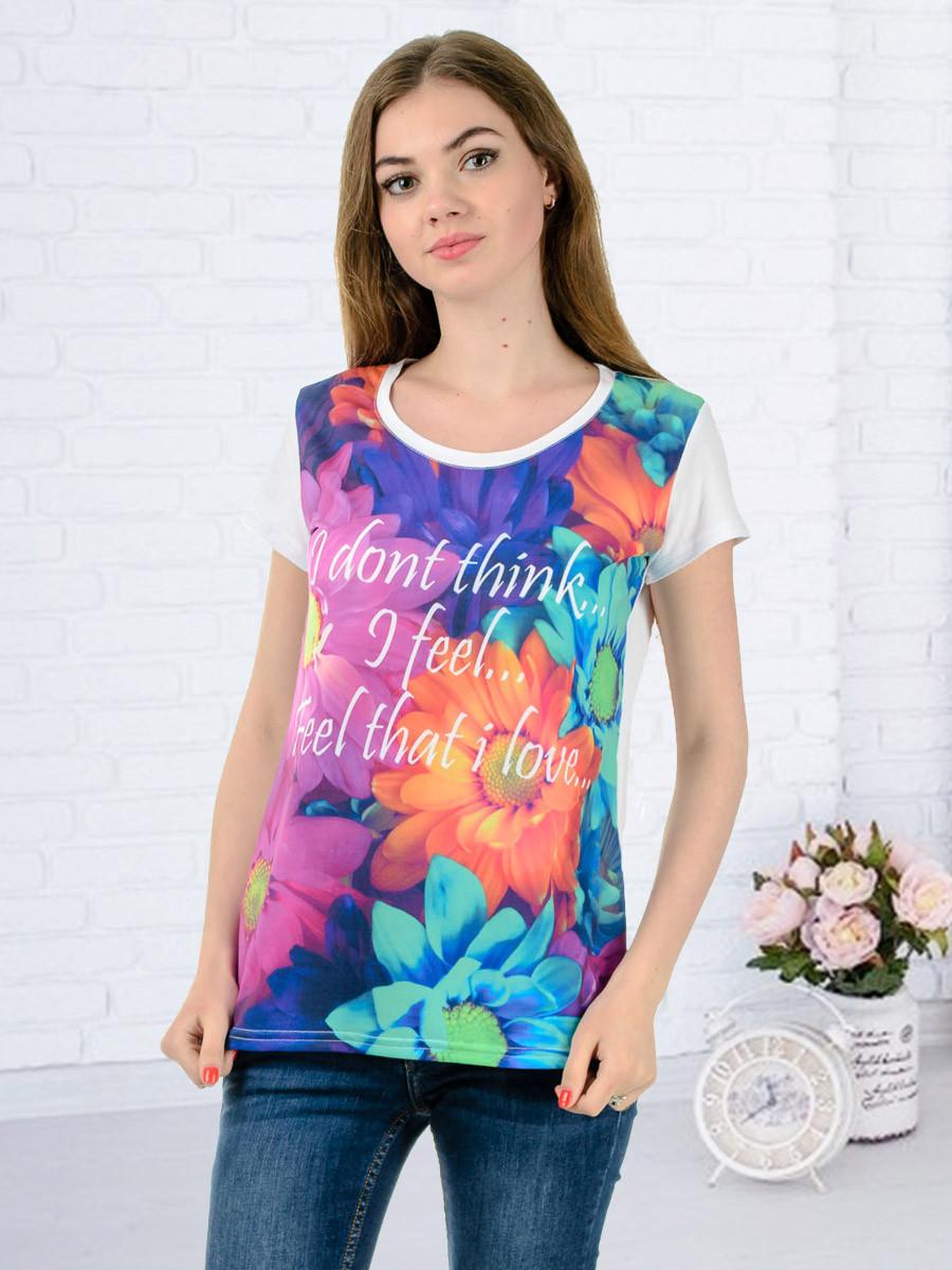 Женская футболка принт фото K3134