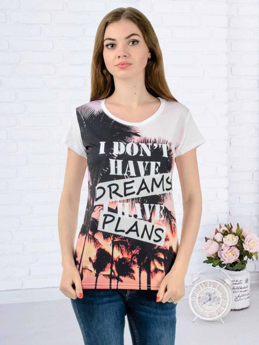 Женская футболка принт фото K3135