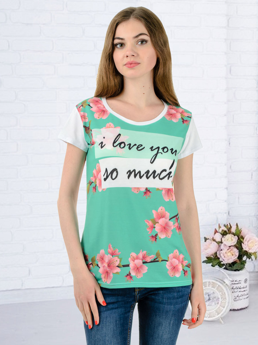 Женская футболка принт фото K3136