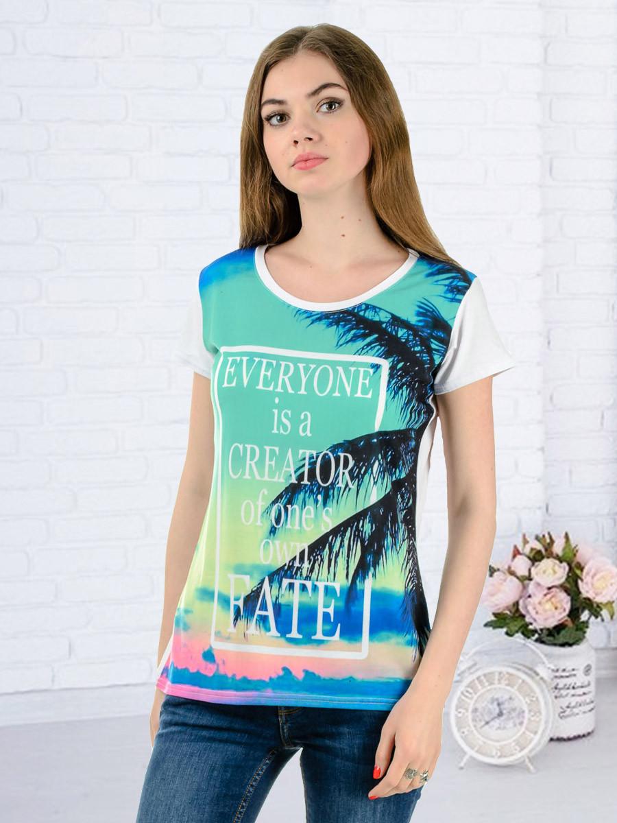 Женская футболка принт фото K3137
